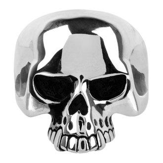 Prsten INOX - skull w/teethout, INOX
