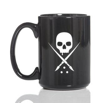 Šalica SULLEN - BADGE COFFEE - BLACK / WHITE, SULLEN