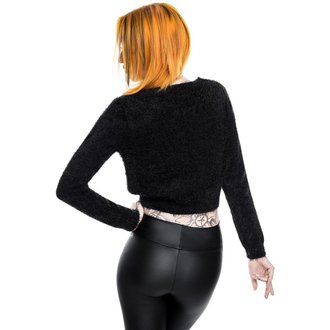 Džemper ženski KILLSTAR - Black Out Fuzzy Crop, KILLSTAR