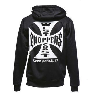 Majica s kapuljačom muška - Iron Cross Hoodie Zip - West Coast Choppers, West Coast Choppers