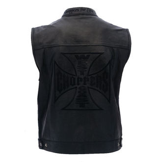 Prsluk - OG CROSS LEATHER RIDING - West Coast Choppers, West Coast Choppers