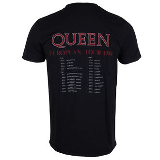 Majica metal muška Queen - European Tour 1984 - ROCK OFF, ROCK OFF, Queen