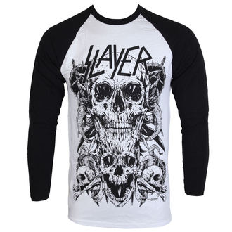Majica muška dugi rukav Slayer - Skulls Raglan - ROCK OFF, ROCK OFF, Slayer