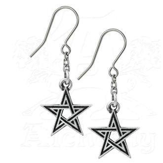 Naušnice ALCHEMY GOTHIC - Black Star, ALCHEMY GOTHIC