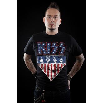 Majica metal muška Kiss - Stars & Stripes - HYBRIS, HYBRIS, Kiss