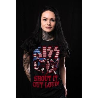 Majica metal ženska Kiss - Shout It Out Loud - HYBRIS, HYBRIS, Kiss