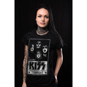 Majica metal ženska Kiss - In Concert Distressed Poster - HYBRIS, HYBRIS, Kiss
