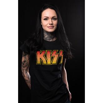 Majica metal ženska Kiss - Distressed Logotype - HYBRIS, HYBRIS, Kiss