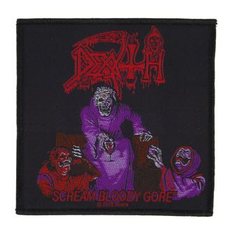 Zakrpa DEATH - SCREAM BLOODY GORE - RAZAMATAZ, RAZAMATAZ, Death