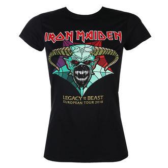 Ženska metal majica Iron Maiden - Legacy of the Beast European Tour 2018 - ROCK OFF, ROCK OFF, Iron Maiden