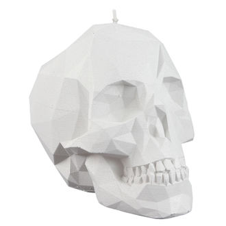 Svijeća Skull - White