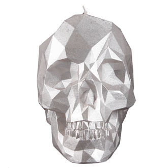 Svijeća Skull - Silver