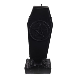 Svijeća Coffin with Pentagram - Black Matt