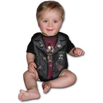 Dječji bodi SPIRAL - BABY BIKER - Black, SPIRAL