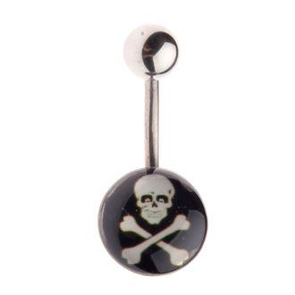Piercing nakit Skull - L-025