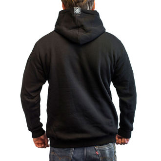 Majica s kapuljačom muška - BASTARD SKULL - BLACK HEART, BLACK HEART