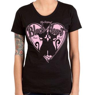 Majica ulična ženska - PUSSY CATS - BLACK HEART, BLACK HEART