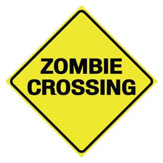 Znak Zombie Crossing
