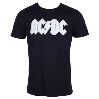 Majica metal muška AC-DC - Logo & Angus Applique Slub - ROCK OFF, ROCK OFF, AC-DC