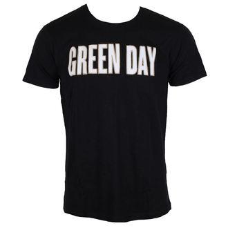Majica metal muška Green Day - Logo & Grenade Applique Slub - ROCK OFF, ROCK OFF, Green Day