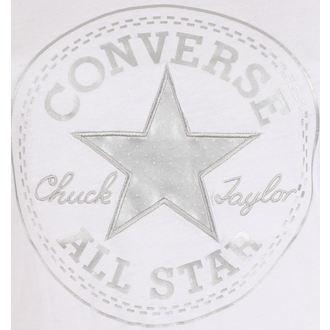Majica ulična ženska - Metallic Chuck Patch Vneck - CONVERSE, CONVERSE
