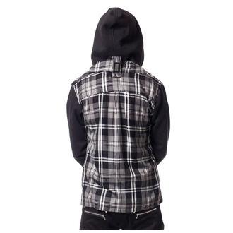 Majica s kapuljačom muška - QUINN JACKET MENS GREY CHECK - VIXXSIN - POI403
