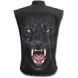 Košulja bez rukava muška SPIRAL - TRIBAL PANTHER - Black, SPIRAL