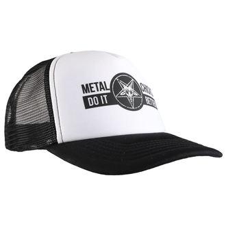 Kapa METAL CHICKS DO IT BETTER - BAPHOMET - Logo - WHT & BLACK, METAL CHICKS DO IT BETTER
