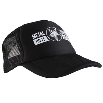 Kapa METAL CHICKS DO IT BETTER - Baphomet - Logo - Black, METAL CHICKS DO IT BETTER