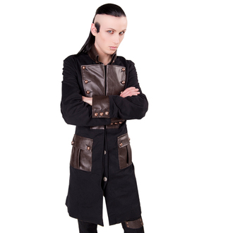 Kaput muški Aderlass - Steam Punk Coat Denim Black-Brown, ADERLASS