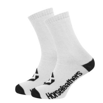 Čarape HORSEFEATHERS - LOBY - BIJELA, HORSEFEATHERS