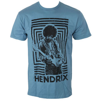 Majica metal muška Jimi Hendrix - AUTHENTIC SQUARES BLUE - BRAVADO, BRAVADO, Jimi Hendrix