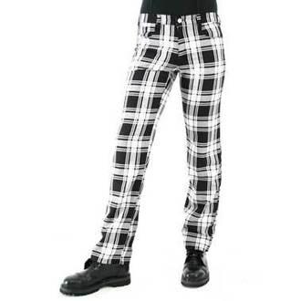 hlače muške BLACK PISTOL - Tartan Pants Crno - Bijelo , BLACK PISTOL