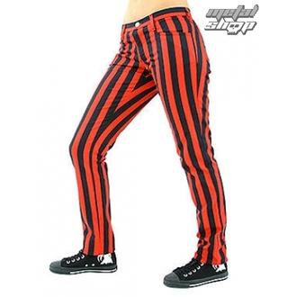 Hlače ženske BLACK PISTOL - Close Pants Stripe Black / Red, BLACK PISTOL