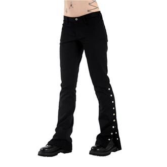 Hlače ženske BLACK PISTOL - Button Hipster Denim (Crno), BLACK PISTOL