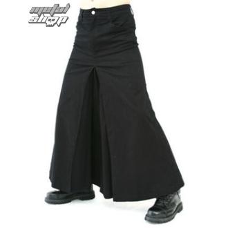 kilt BLACK PISTOL - Ljudi Suknja Denim Crno, BLACK PISTOL