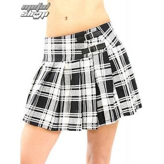 suknja ženska BLACK PISTOL - Buckle Mini Tatran - Crno-bijela, BLACK PISTOL