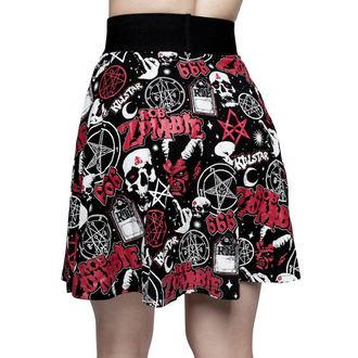 Ženska suknja KILLSTAR - ROB ZOMBIE - Dijete Smrt Klizačica - BLACK, KILLSTAR, Rob Zombie