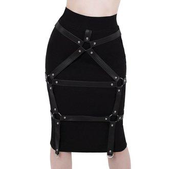 Ženska suknja KILLSTAR - Bad Bonds - BLACK, KILLSTAR