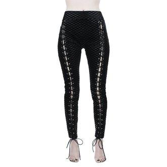 Ženske hlače (tajice) KILLSTAR - Black Sea Lace-Up - CRNE, KILLSTAR