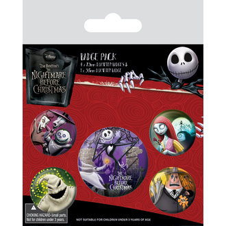 Bedževi Nightmare Before Christmas - (&&string0&&) - PYRAMID POSTERS, PYRAMID POSTERS