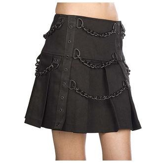 Ženska suknja Black Pistol - Chain Denim - Crna, BLACK PISTOL