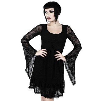 Ženska haljina KILLSTAR - CASKET CUTIE WEB - BLACK, KILLSTAR