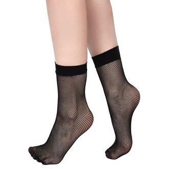 Ženske čarape KILLSTAR - COURTNEY FISHNET - BLACK, KILLSTAR