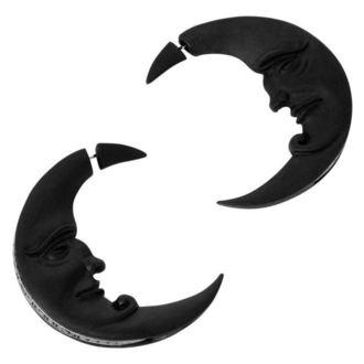 Naušnice KILLSTAR - Crescent moon - BLACK, KILLSTAR