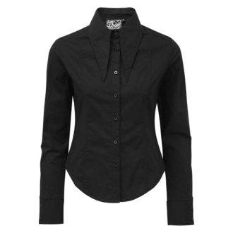 Ženska košulja KILLSTAR - Darby Pointed Collar - BLACK, KILLSTAR