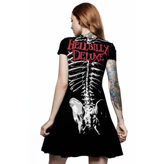 Ženska haljina KILLSTAR - Rob Zombie - Foxy Bones Skater - CRNA, KILLSTAR, Rob Zombie