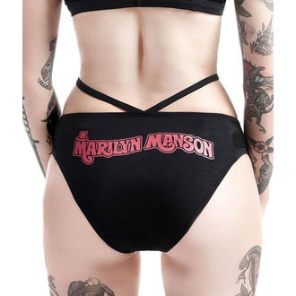 Gaćice ženske KILLSTAR - Marilyn Manson - Golden ticket - Black, KILLSTAR, Marilyn Manson