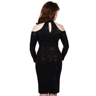 Ženska haljina KILLSTAR - GRAVE GIRL HALTER - CRNA, KILLSTAR