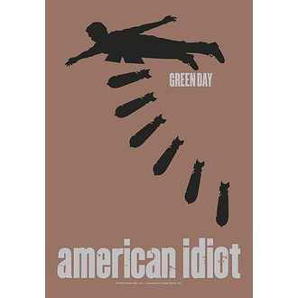 Zastava Green Day - American idiot Bombs, HEART ROCK, Green Day